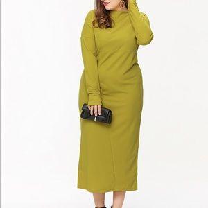 SHEIN Oversized Maxi Dress in Mustard